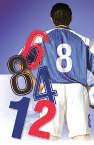 Printed football numbers spectrum personalised printing